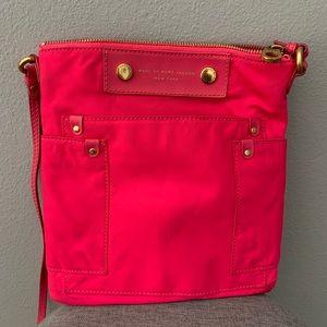 Marc by Marc Jacobs Neon Pink Nylon Cross Body Bag